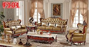 canap de luxe italien de luxe italien en cuir sculpté à la canapé set 1 2 3 f101
