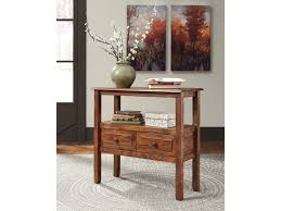Ashley Sofa Table by Signature Design By Ashley Abbonto Acacia Solid Wood Accent Table