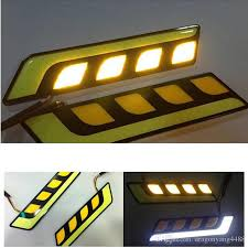 best led daytime running lights the new car cob led drl turn light all in one car styling 2ps led