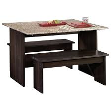 beginnings trestle table with benches 413854 sauder