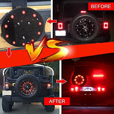 jeep wrangler third brake light firebug jeep 3rd brake light led for spare tire on jeep wrangler jk