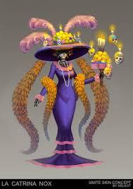 smite halloween chest la catrina nox skin concept smite