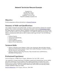 Veterinary Technician Resume Sample by Network Technician Resume Resume For Your Job Application