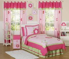 bedding for little girls floral pink u0026 green bedding twin or full queen kids comforter sets