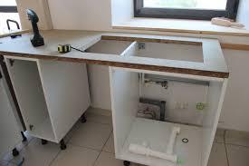meuble de cuisine avec plan de travail fabriquer jambage plan de travail avec meuble bas de cuisine avec