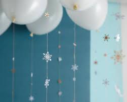 snowflake balloons falling snowflake garland diy