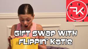 gymnastics gift swap with flippin u0027 katie youtube