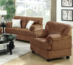 Leather Sofa And Chair Set Loveseat And Chair Set Sofa Chair Set In Saddle Fabric By