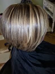 bob hair lowlights inverted bob with bangs inverted bob with bangs and chunky high