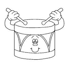 drum coloring page coloringcrew com