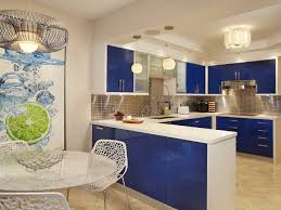 Williams Island Contemporary Kitchen Miami By Arnold - Blue kitchen cabinets