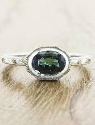 oval sapphire engagement rings reveniss intricate oval blue green sapphire ring ken design