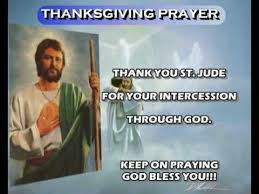 prayer for thanksgiving st jude thaddeus