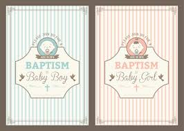 Baptismal Invitation Card Design Vintage Baptism Invitation Cards Vector Download