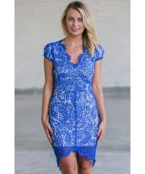 bright blue lace sheath dress high low lace sheath dress online