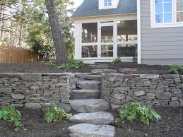 Garden Wall Retaining Blocks by 234 Best Stone Walls Trex Images On Pinterest Landscaping Ideas