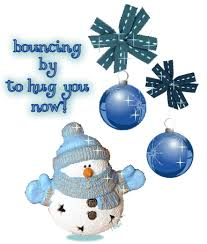 bouncing by to hug you now animated merry snowman