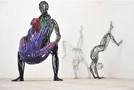 Electric Cable Human Sculptures Made From Recycled Electrical Cables Lost In