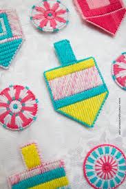 plastic canvas dreidel ornament craft creative
