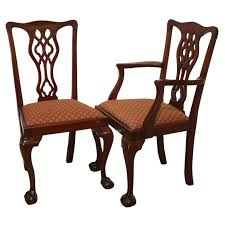 Set Of Eight Chippendale Style Mahogany Dining Chairs At Stdibs - Chippendale dining room furniture