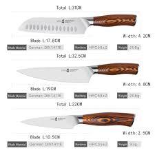 german steel kitchen knives aliexpress buy tuobituo 3pcs set japanese 7inch santoku