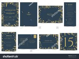 wedding invitation card formal style bridal stock vector 635419790