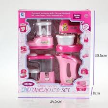 Kitchen Play Accessories - fajiabao set of 4 household appliance pretend play battery