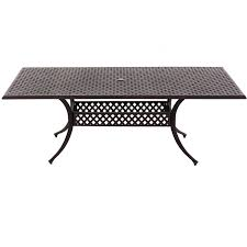 Ultimate Patio Furniture by 84 X 42 Inch Cast Aluminum Rectangle Patio Dining Table By
