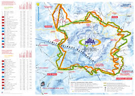 Piste Maps For Italian Ski by Sella Ronda Piste Map Big Planet Travel
