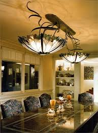 Stained Glass Light Fixtures Dining Room Custom Stained Glass Chandelier Dining Room Fixture