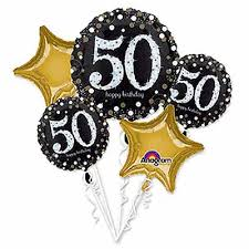 50th birthday balloons sparkling celebration 50th birthday balloon bouquet boswell s party