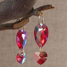 earrings and things swarovski 10mm hearts 6202 and 6228 swarovski pendants