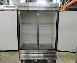 true 2 door glass cooler used true t 49 commercial reach in solid swing door refrigerator