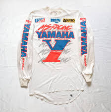 sinisalo motocross gear vtg 80s yamaha ms racing malcolm smith msr motocross jersey