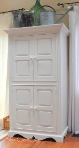 White Armoire Rustic Maple Painted Armoire In Mercury Glass White