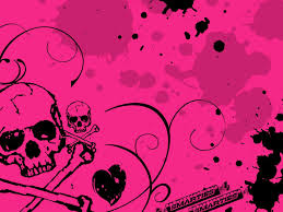 pink halloween background free pink skull wallpaper wallpapers browse