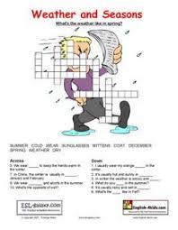 esl printable worksheets weather months clothes seasons