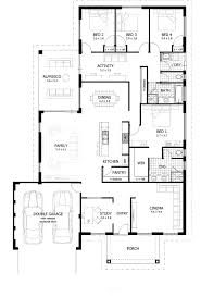 inspiration decor floor plans for 4 bedroom homes free ranch house