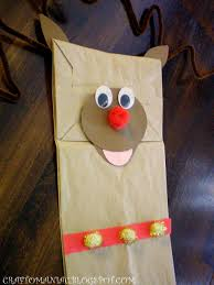 kids craft rudolph paper bag puppet s craft o maniac