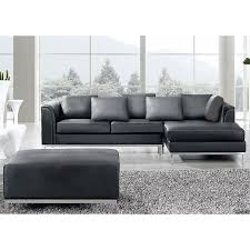 L Leather Sofa L Shaped Black Leather Sofa Living Room Design Within Decor 9