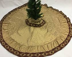 gold tree skirt gold tree skirt etsy