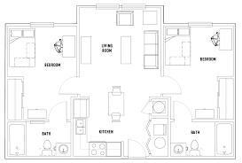 2 bed 2 bath floor plans floor plans heritage commons student housing atlanta ga