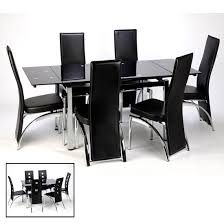 Black Extending Dining Table And Chairs Extendable Black Glass High Gloss Base Dining Table And 8 Chairs