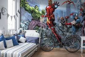 Avengers Boys Room Wall Murals For Wall Homewallmuralscouk - Kids room wallpaper murals