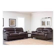 Abbyson Leather Sofa Reviews Abbyson Living Brentwood Ci 1307 Brn 3 2 Top Grain Leather Sofa