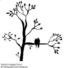 For A Tree Birds In Tree Silhouette Vector Graphic