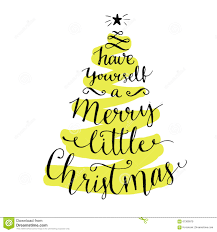 merry christmas modern have yourself a merry little christmas modern stock vector
