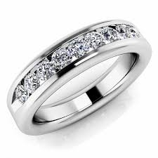 mens diamond engagement rings 0 72ct channel set diamond band wedding mens ring