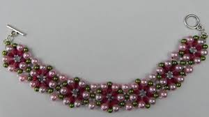 free bracelet beading patterns images How to make a beaded bracelet with pearls jewelry diy tutorial jpg