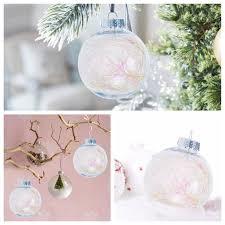 8 pcs clear plastic ornaments fillable balls with